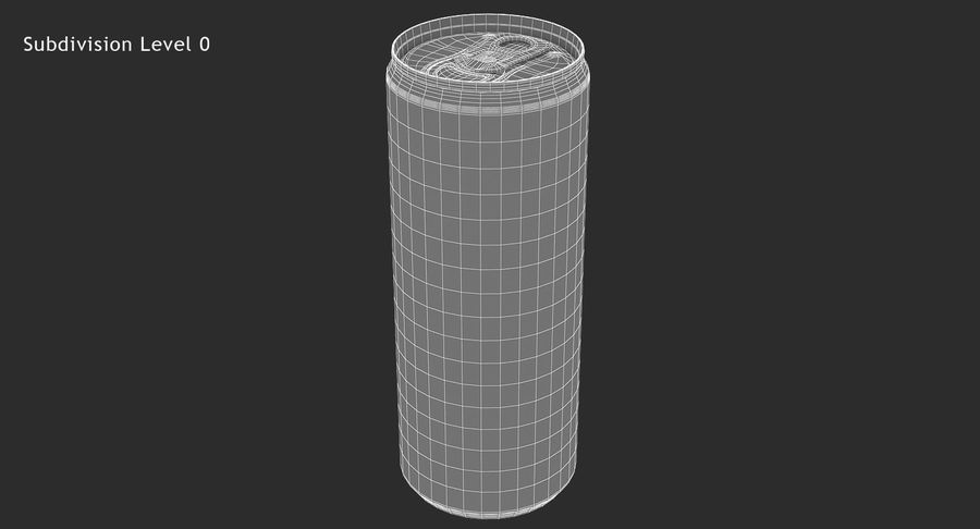 250ml 8.4oz Slim Beverage Can royalty-free 3d model - Preview no. 14