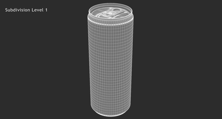 250ml 8.4oz Slim Beverage Can royalty-free 3d model - Preview no. 15