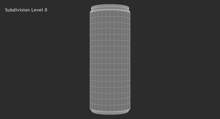 250ml 8.4oz Slim Beverage Can royalty-free 3d model - Preview no. 12