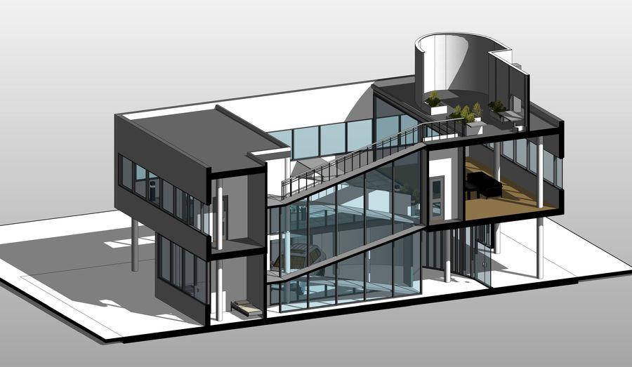 Villa Savoye Le Corbusier Revit 3d Model 42 Max Fbx