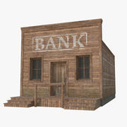 Western Building 1 (Low Poly) 3d model