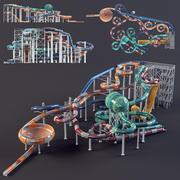 water Park slides3 3d model