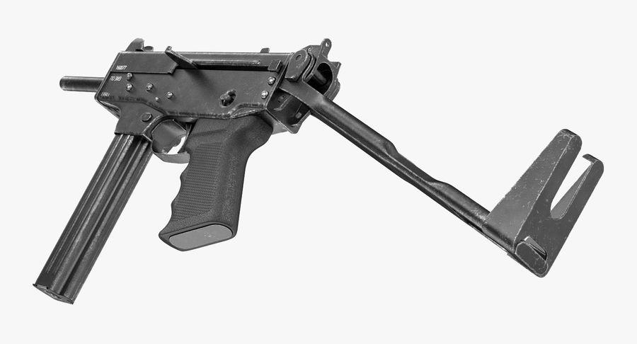 Fucile mitragliatore PP-91 KEDR royalty-free 3d model - Preview no. 3