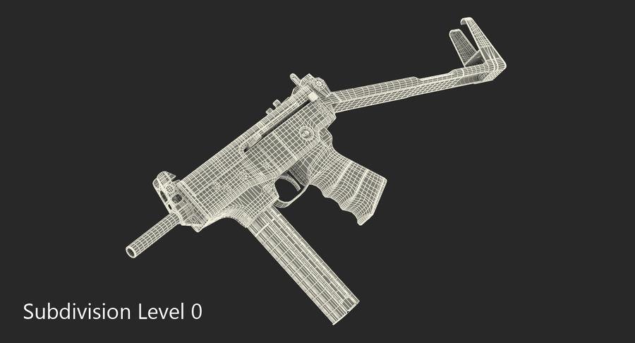 Fucile mitragliatore PP-91 KEDR royalty-free 3d model - Preview no. 14
