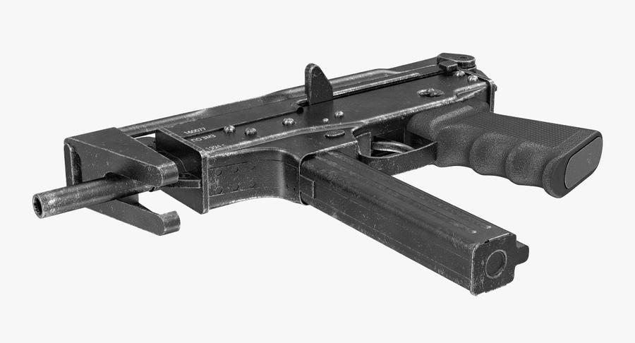 Fucile mitragliatore PP-91 KEDR royalty-free 3d model - Preview no. 4
