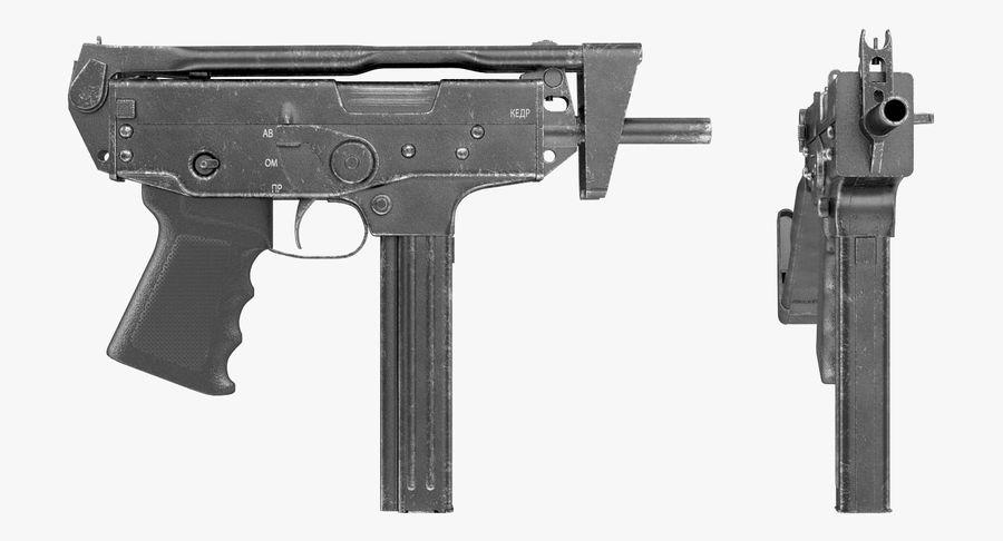 Fucile mitragliatore PP-91 KEDR royalty-free 3d model - Preview no. 10