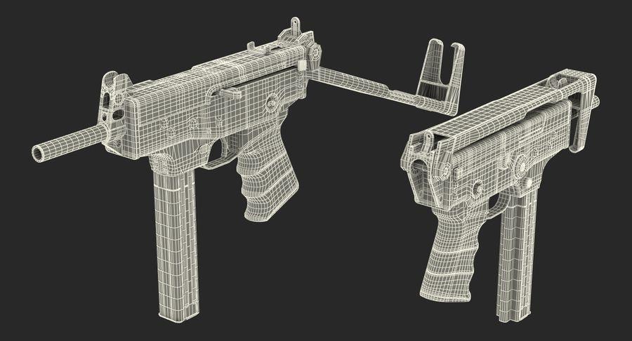 Fucile mitragliatore PP-91 KEDR royalty-free 3d model - Preview no. 21