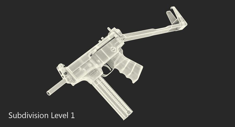 Fucile mitragliatore PP-91 KEDR royalty-free 3d model - Preview no. 15