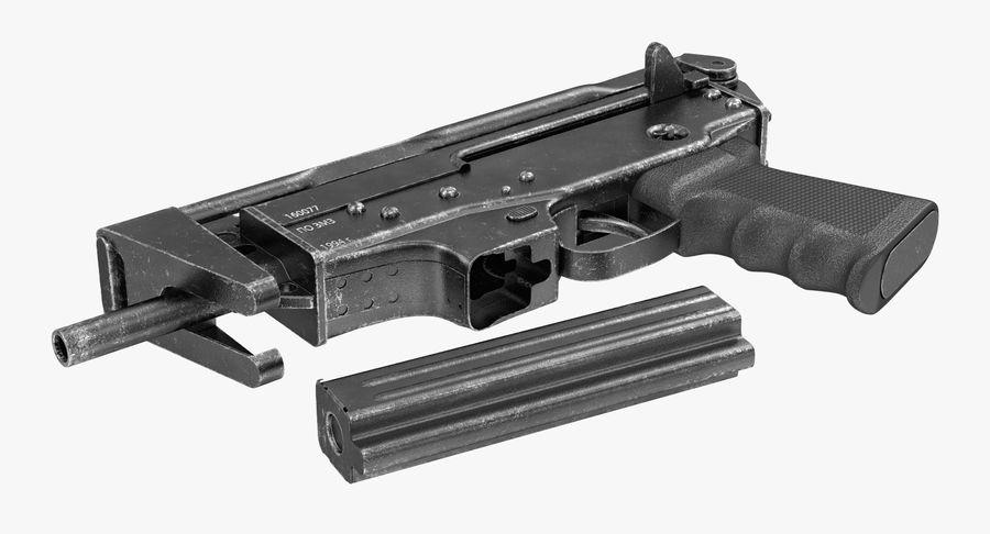 Fucile mitragliatore PP-91 KEDR royalty-free 3d model - Preview no. 5