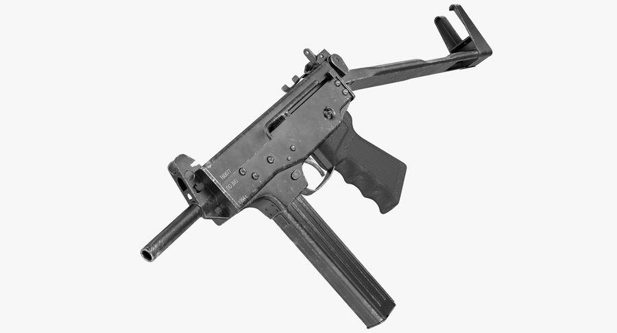 Fucile mitragliatore PP-91 KEDR royalty-free 3d model - Preview no. 2