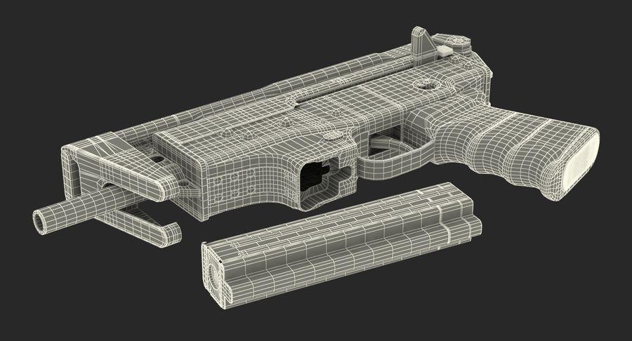 Fucile mitragliatore PP-91 KEDR royalty-free 3d model - Preview no. 23