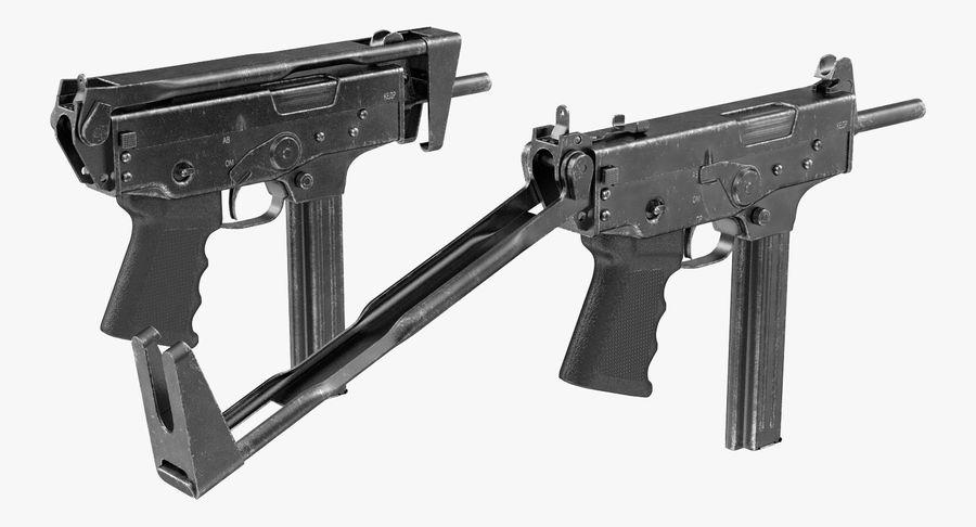 Fucile mitragliatore PP-91 KEDR royalty-free 3d model - Preview no. 8