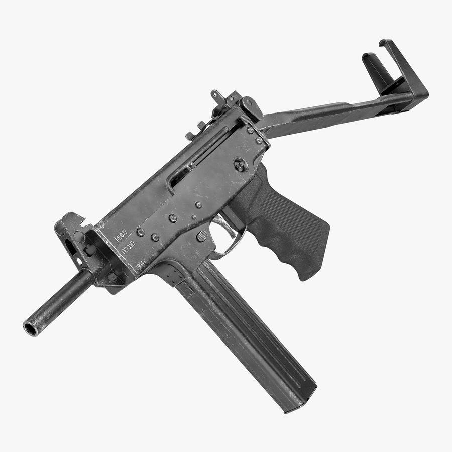 Fucile mitragliatore PP-91 KEDR royalty-free 3d model - Preview no. 1