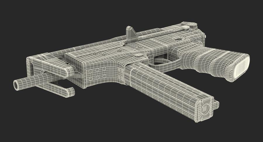 Fucile mitragliatore PP-91 KEDR royalty-free 3d model - Preview no. 22