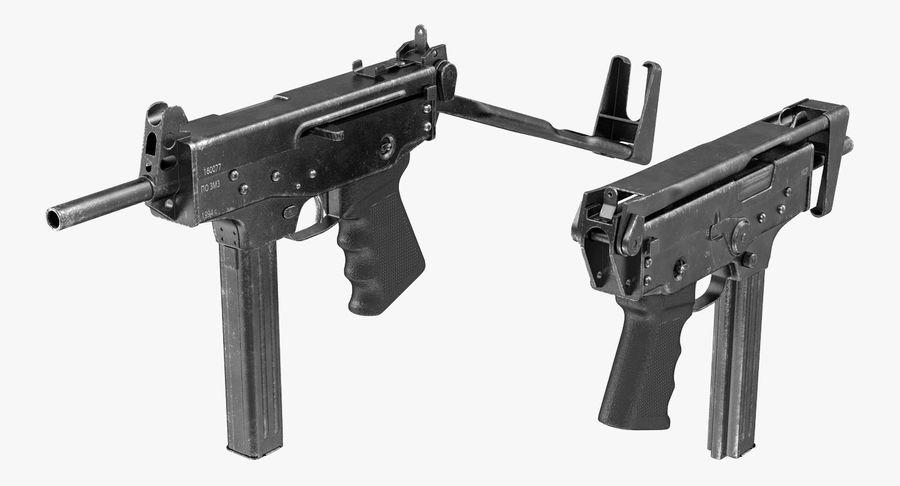 Fucile mitragliatore PP-91 KEDR royalty-free 3d model - Preview no. 7