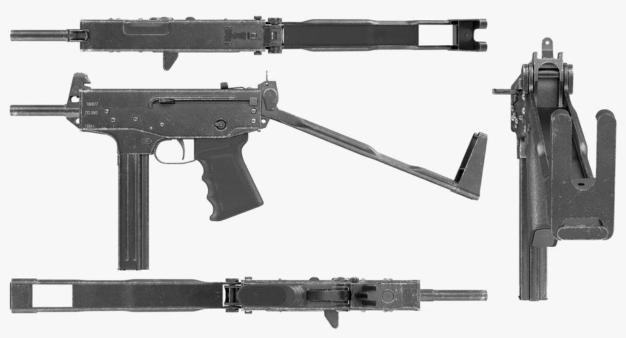 Fucile mitragliatore PP-91 KEDR royalty-free 3d model - Preview no. 9