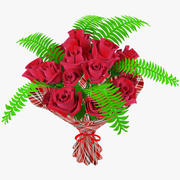 Bouquet de roses 3d model