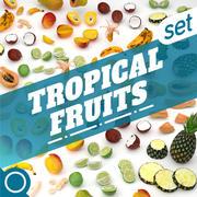 Тропические фрукты 3d model