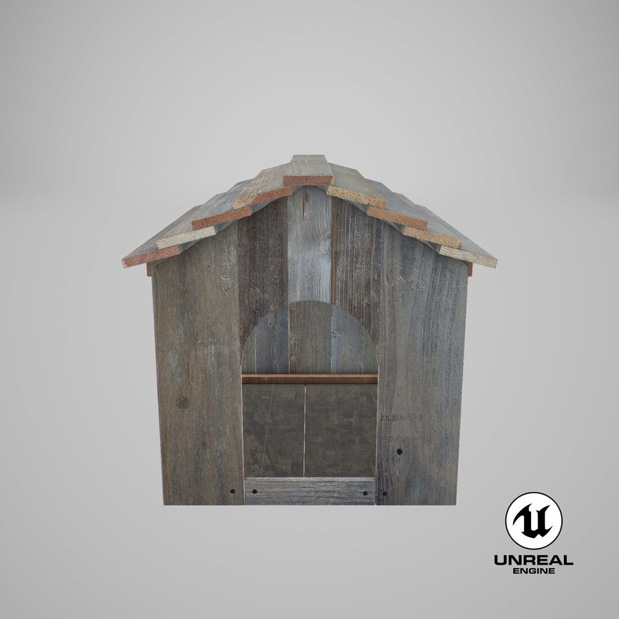 Dog House 02 3D Model $29 -  max  upk  unitypackage - Free3D