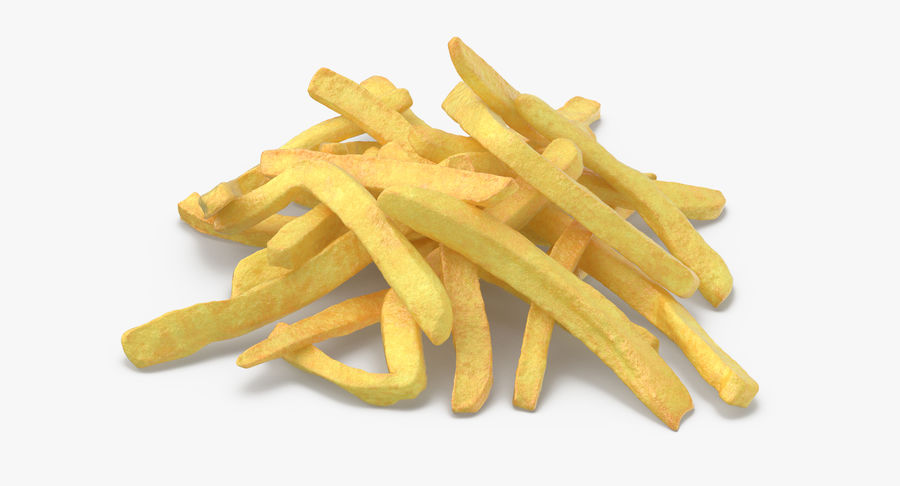 Fries Pile 01 royalty-free 3d model - Preview no. 6