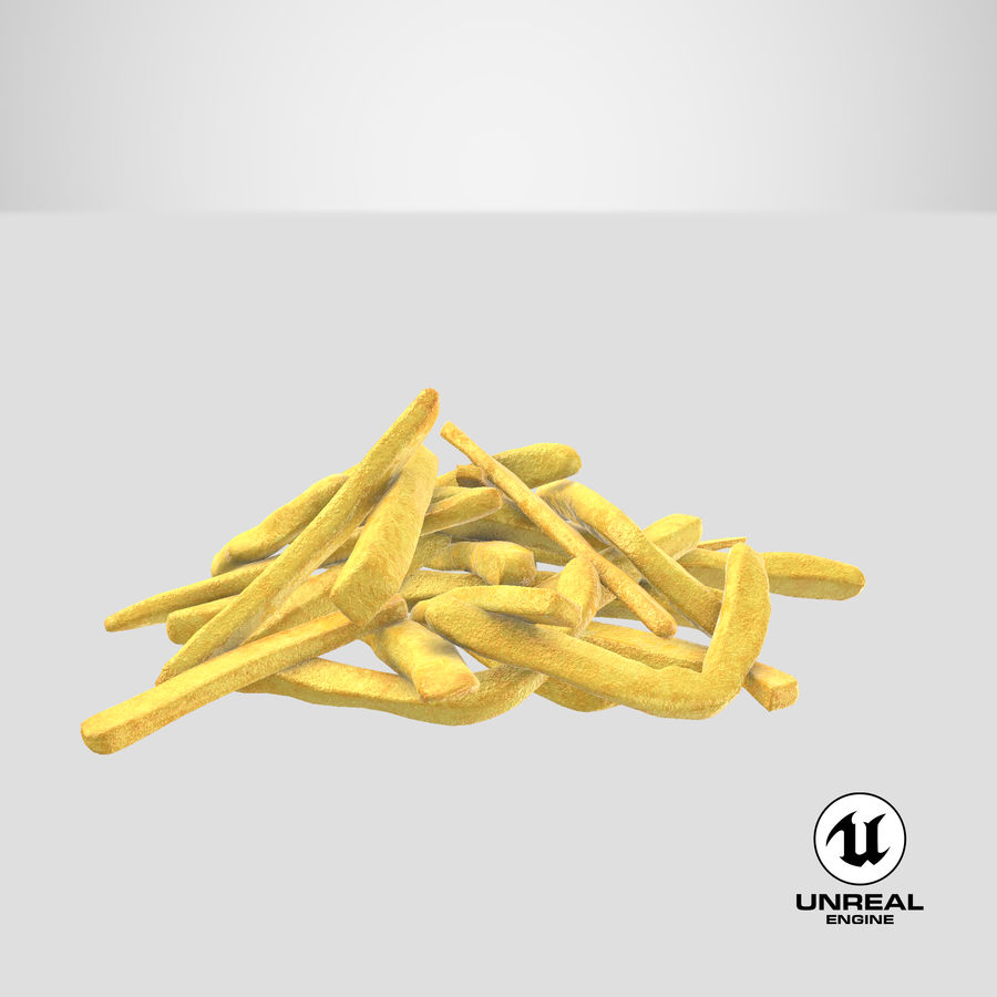 Fries Pile 01 royalty-free 3d model - Preview no. 26
