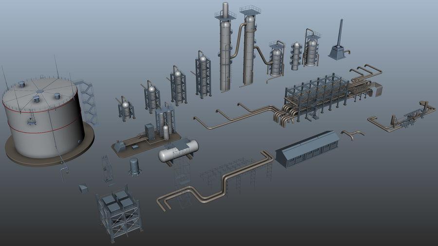 Jednostka rafineryjna royalty-free 3d model - Preview no. 4