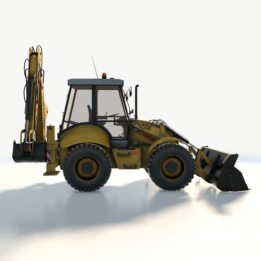 New holland B115 Backhoe loader royalty-free 3d model - Preview no. 12
