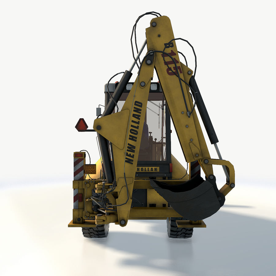 New holland B115 Backhoe loader royalty-free 3d model - Preview no. 13