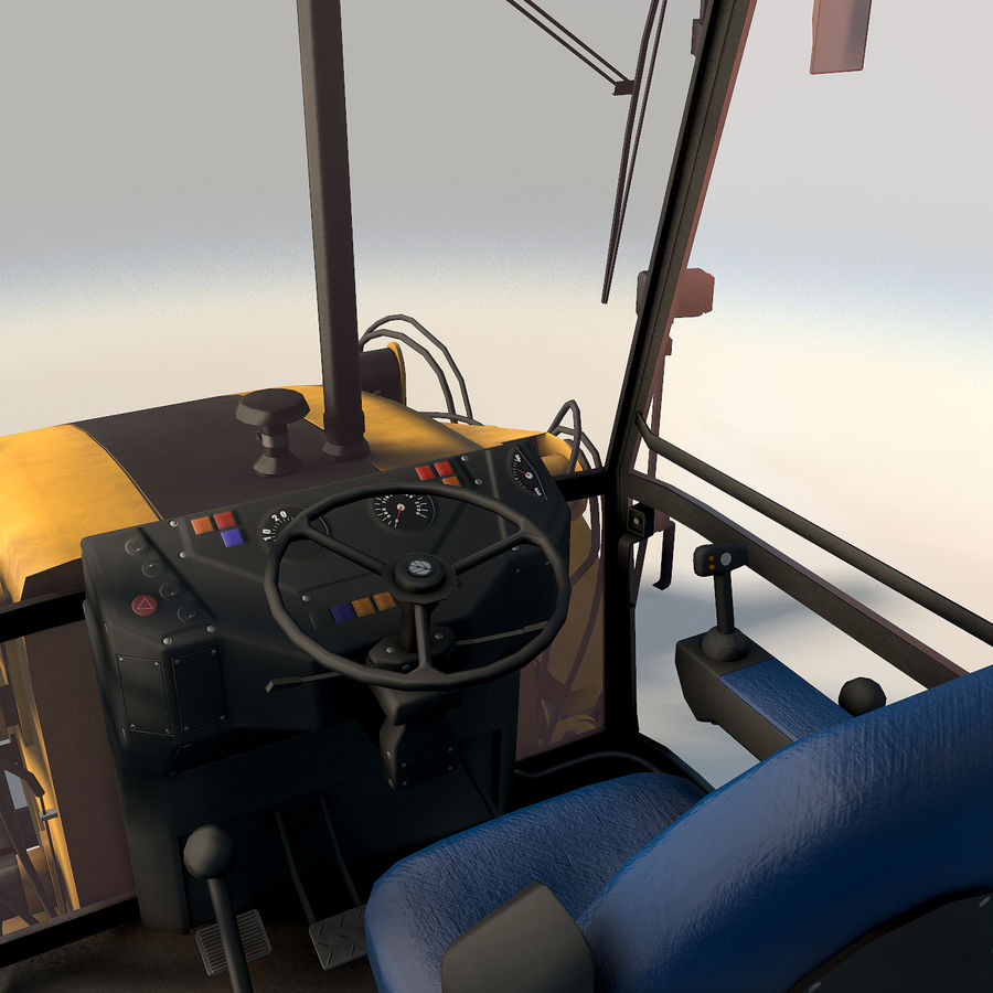 New holland B115 Backhoe loader royalty-free 3d model - Preview no. 14