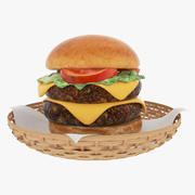 Großer Burger 3d model