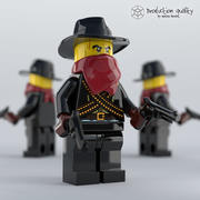 Lego Bandit Figure 3d model