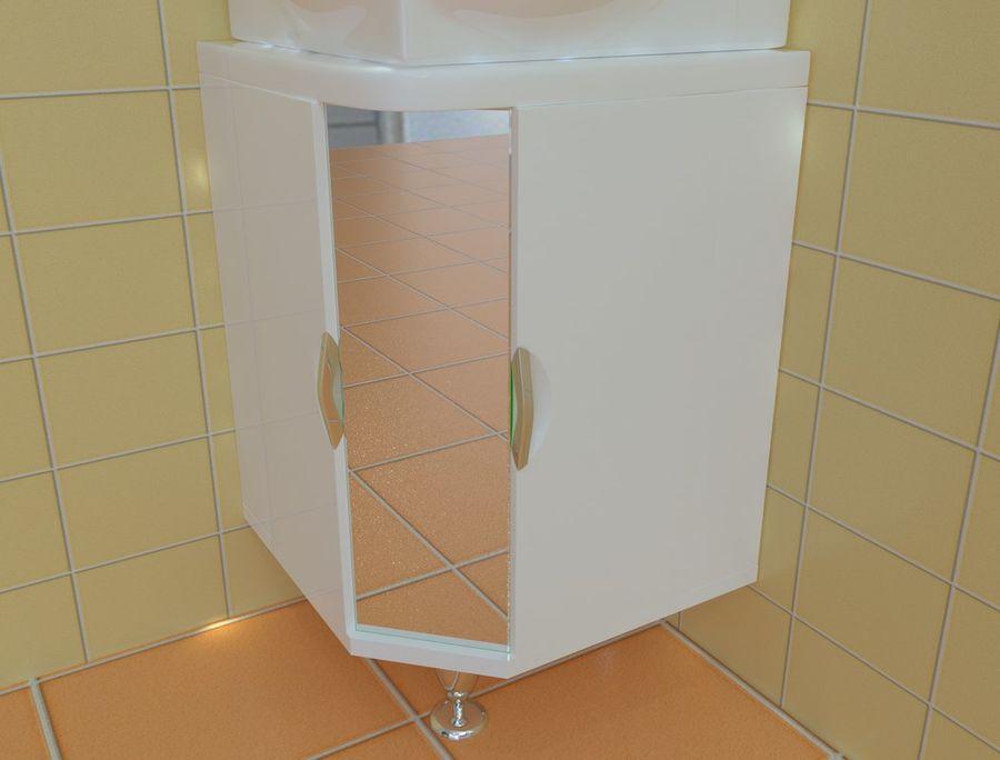 Cabinet corner aqwella royalty-free 3d model - Preview no. 3