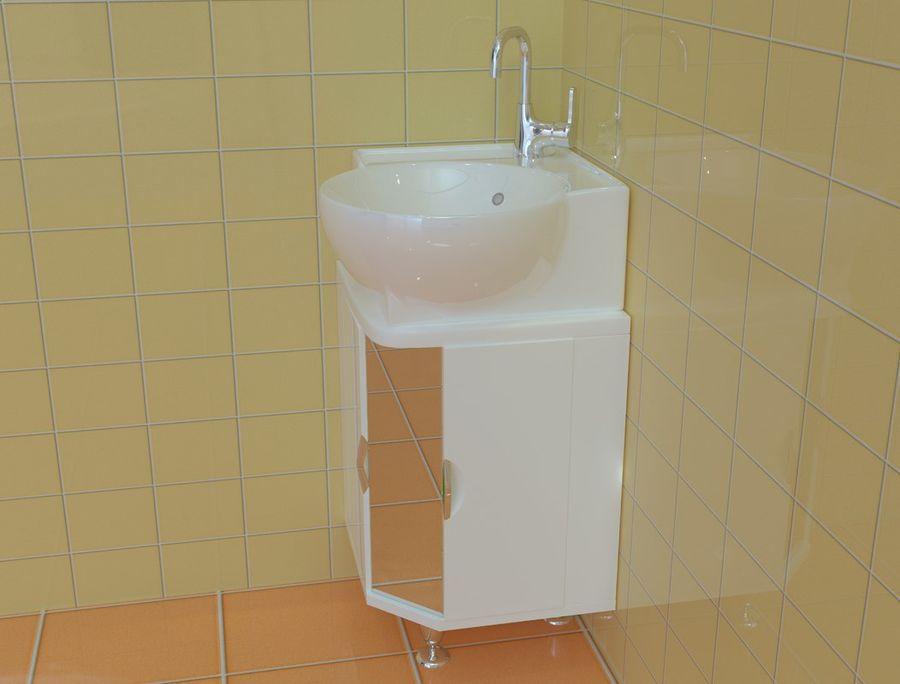 Cabinet corner aqwella royalty-free 3d model - Preview no. 1