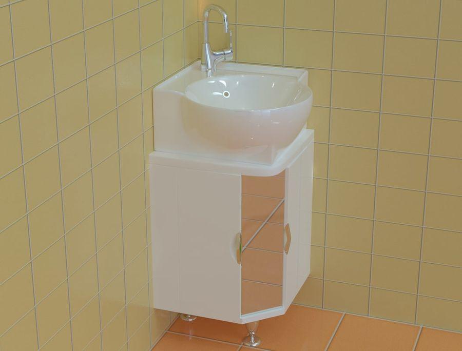 Cabinet corner aqwella royalty-free 3d model - Preview no. 2