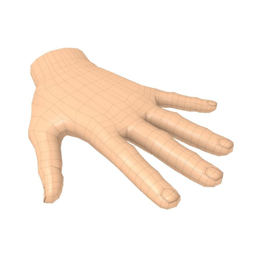 Hand Basemesh royalty-free 3d model - Preview no. 6