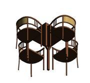 Stół i krzesła 1 3d model