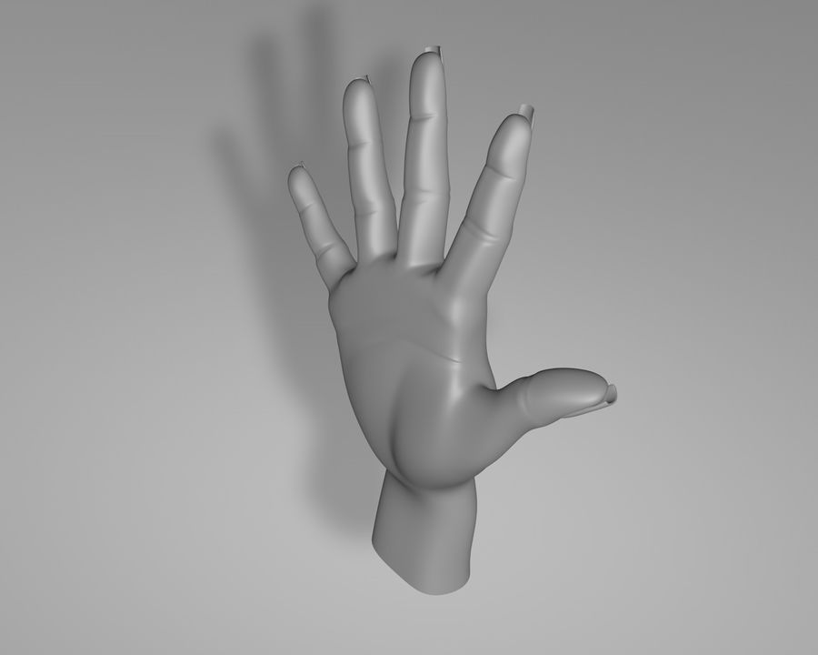 Main droite royalty-free 3d model - Preview no. 5