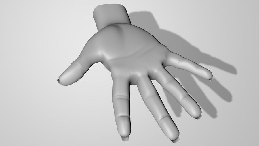 Main droite royalty-free 3d model - Preview no. 9