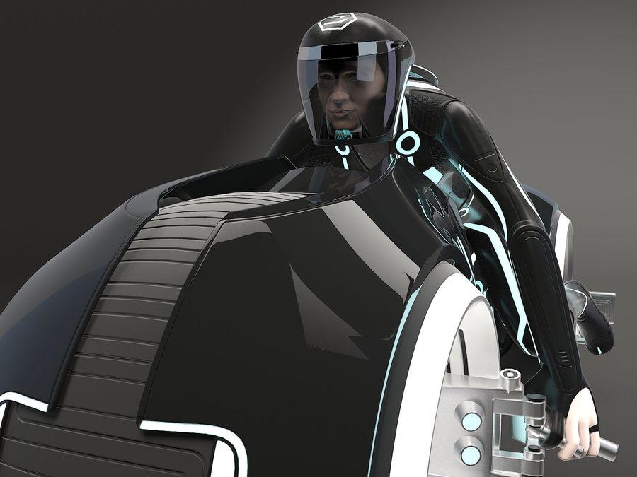 Tron Bike - Light Cycle royalty-free 3d model - Preview no. 4