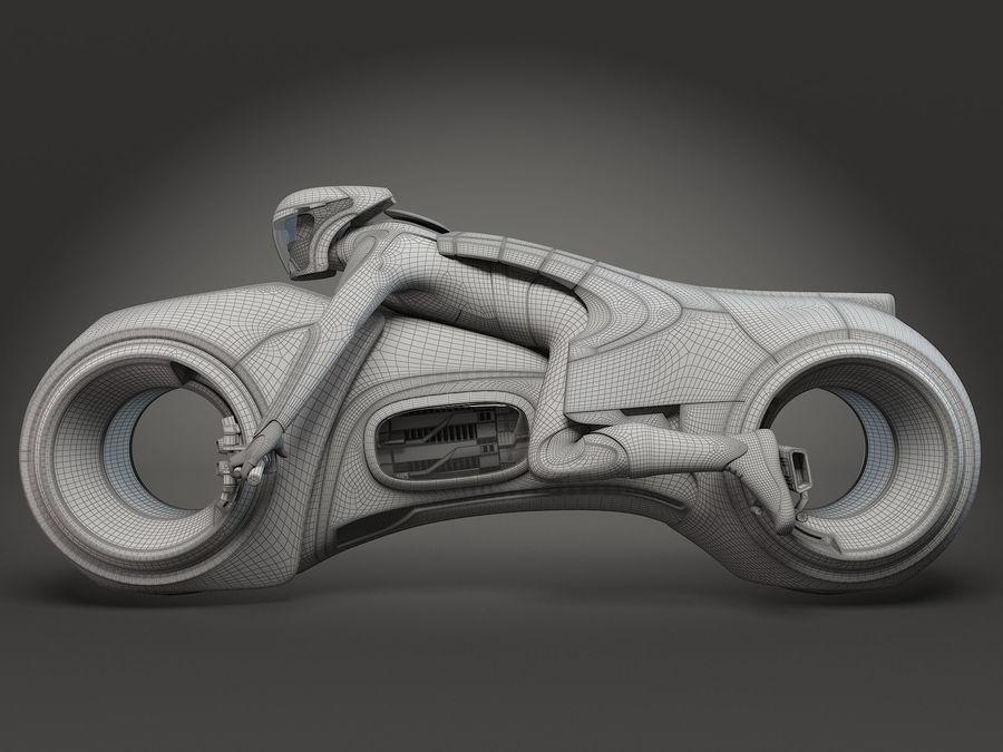 Tron Bike - Light Cycle royalty-free 3d model - Preview no. 12