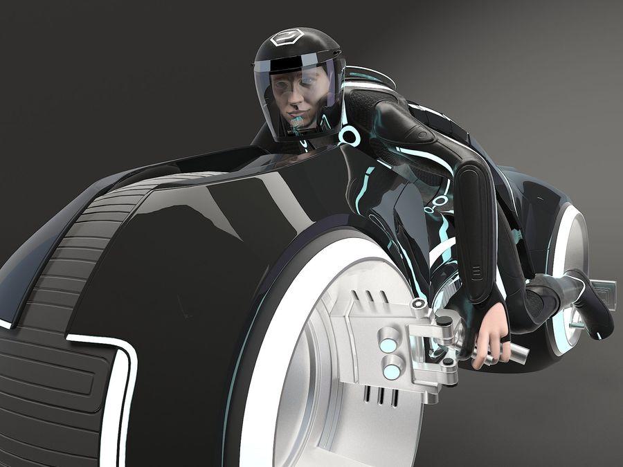 Tron Bike - Light Cycle royalty-free 3d model - Preview no. 10