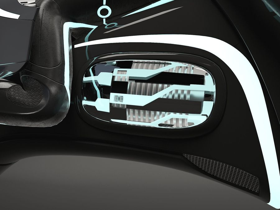 Tron Bike - Light Cycle royalty-free 3d model - Preview no. 7