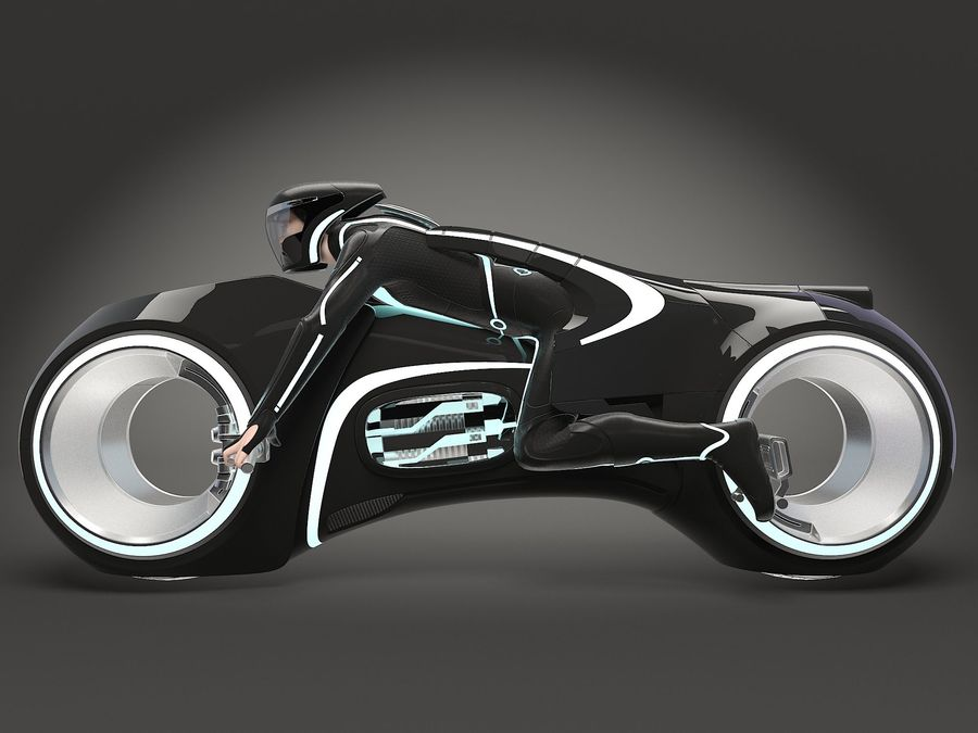 Tron Bike - Light Cycle royalty-free 3d model - Preview no. 2