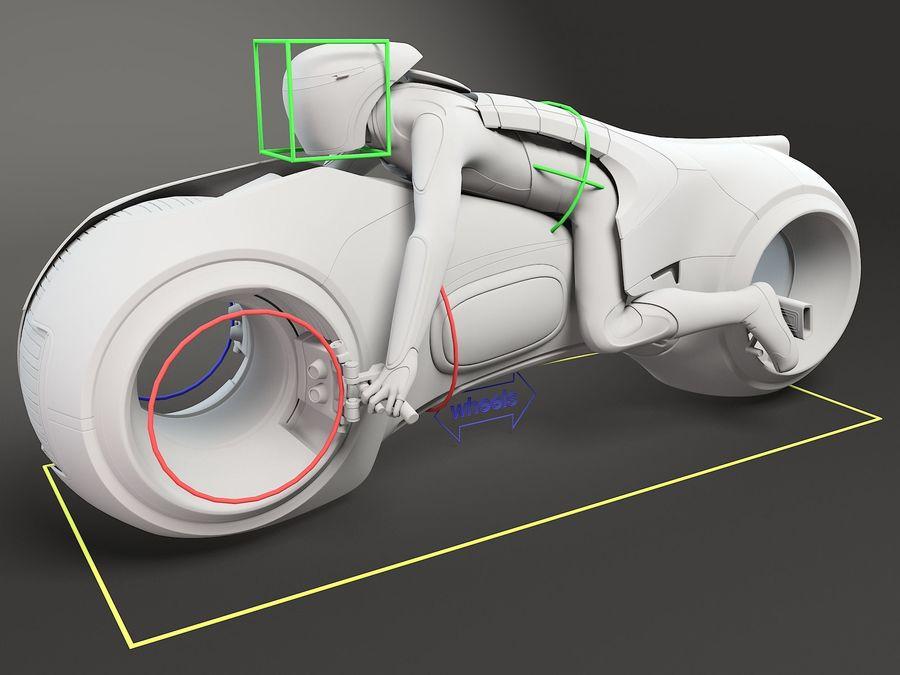 Tron Bike - Light Cycle royalty-free 3d model - Preview no. 14