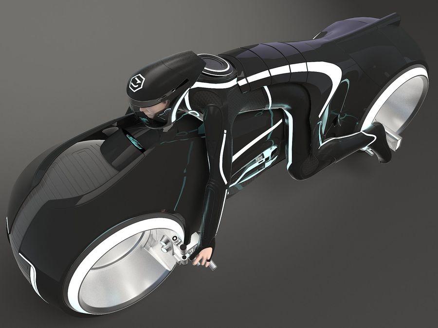 Tron Bike - Light Cycle royalty-free 3d model - Preview no. 3