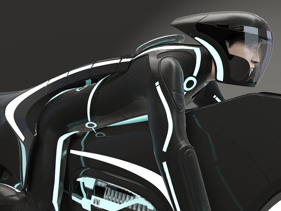 Tron Bike - Light Cycle royalty-free 3d model - Preview no. 8