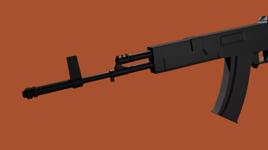 AK-12 geweer royalty-free 3d model - Preview no. 4