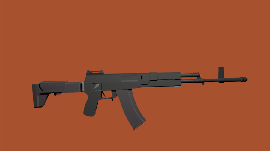 AK-12 geweer royalty-free 3d model - Preview no. 6