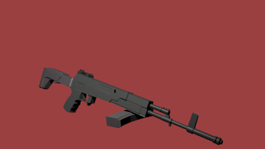 AK-12 geweer royalty-free 3d model - Preview no. 3