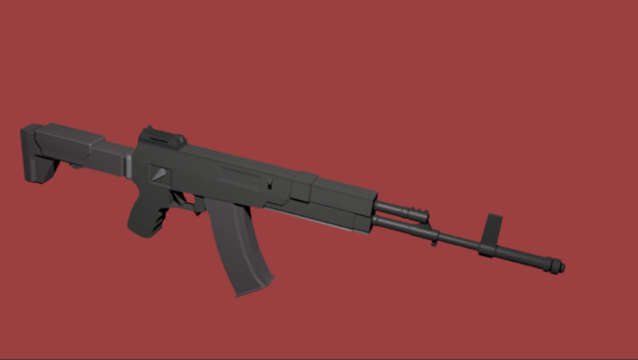 AK-12 geweer royalty-free 3d model - Preview no. 2